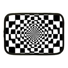 Checkered Flag Race Winner Mosaic Tile Pattern Repeat Netbook Sleeve (medium) by CrypticFragmentsColors