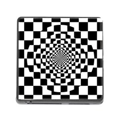 Checkered Flag Race Winner Mosaic Tile Pattern Repeat Memory Card Reader With Storage (square) by CrypticFragmentsColors