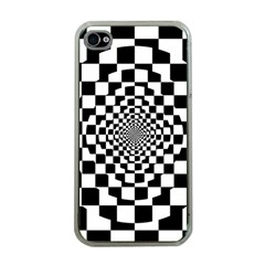 Checkered Flag Race Winner Mosaic Tile Pattern Repeat Apple Iphone 4 Case (clear) by CrypticFragmentsColors
