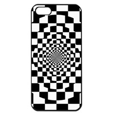 Checkered Flag Race Winner Mosaic Tile Pattern Repeat Apple Iphone 5 Seamless Case (black) by CrypticFragmentsColors