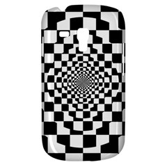 Checkered Flag Race Winner Mosaic Tile Pattern Repeat Samsung Galaxy S3 Mini I8190 Hardshell Case by CrypticFragmentsColors