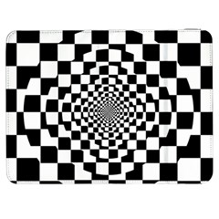 Checkered Flag Race Winner Mosaic Tile Pattern Repeat Samsung Galaxy Tab 7  P1000 Flip Case by CrypticFragmentsColors