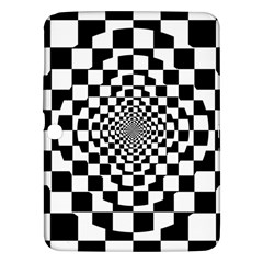 Checkered Flag Race Winner Mosaic Tile Pattern Repeat Samsung Galaxy Tab 3 (10 1 ) P5200 Hardshell Case  by CrypticFragmentsColors