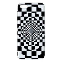Checkered Flag Race Winner Mosaic Tile Pattern Repeat Iphone 5s Premium Hardshell Case by CrypticFragmentsColors