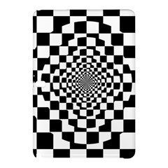 Checkered Flag Race Winner Mosaic Tile Pattern Repeat Samsung Galaxy Tab Pro 12 2 Hardshell Case by CrypticFragmentsColors