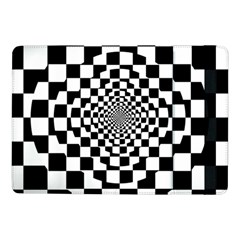 Checkered Flag Race Winner Mosaic Tile Pattern Repeat Samsung Galaxy Tab Pro 10 1  Flip Case by CrypticFragmentsColors
