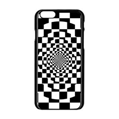 Checkered Flag Race Winner Mosaic Tile Pattern Repeat Apple Iphone 6 Black Enamel Case by CrypticFragmentsColors