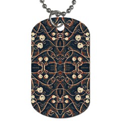 Victorian Style Grunge Pattern Dog Tag (one Sided) by dflcprints