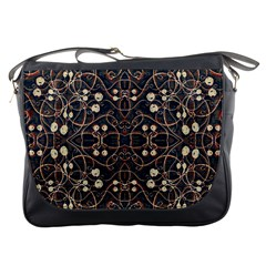 Victorian Style Grunge Pattern Messenger Bag by dflcprints