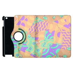 Tropical Summer Fruit Orange Lime Berry Apple Ipad 3/4 Flip 360 Case by CrypticFragmentsColors