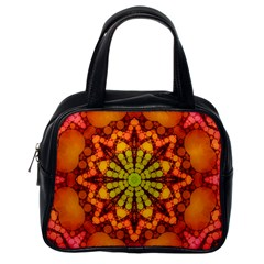 Florescent Abstract Classic Handbag (one Side)