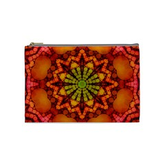 Florescent Abstract Cosmetic Bag (medium)