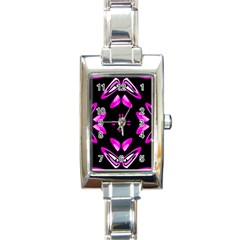 Abstract Pain Frustration Rectangular Italian Charm Watch by FunWithFibro