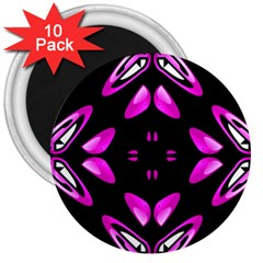 Abstract Pain Frustration 3  Button Magnet (10 Pack) by FunWithFibro