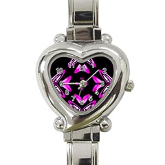 Abstract Pain Frustration Heart Italian Charm Watch  by FunWithFibro