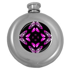 Abstract Pain Frustration Hip Flask (round) by FunWithFibro