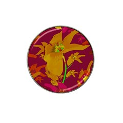 Tropical Hawaiian Style Lilies Collage Golf Ball Marker 10 Pack (for Hat Clip)