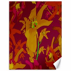 Tropical Hawaiian Style Lilies Collage Canvas 18  X 24  (unframed) by dflcprints