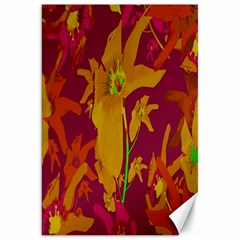 Tropical Hawaiian Style Lilies Collage Canvas 20  X 30  (unframed) by dflcprints