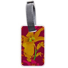 Tropical Hawaiian Style Lilies Collage Luggage Tag (two Sides) by dflcprints