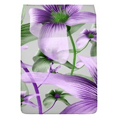 Lilies Collage Art In Green And Violet Colors Removable Flap Cover (small)