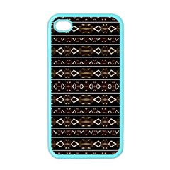 Tribal Dark Geometric Pattern03 Apple Iphone 4 Case (color) by dflcprints