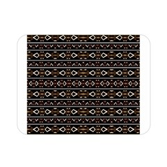 Tribal Dark Geometric Pattern03 Double Sided Flano Blanket (mini) by dflcprints