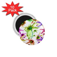 Multicolored Floral Print Pattern 1 75  Button Magnet (10 Pack) by dflcprints