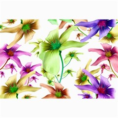 Multicolored Floral Print Pattern Canvas 24  X 36  (unframed) by dflcprints