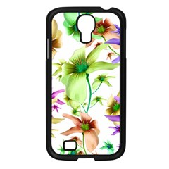 Multicolored Floral Print Pattern Samsung Galaxy S4 I9500/ I9505 Case (black) by dflcprints