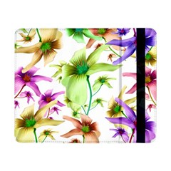Multicolored Floral Print Pattern Samsung Galaxy Tab Pro 8 4  Flip Case by dflcprints