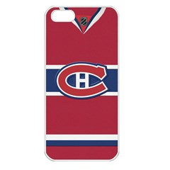 Montreal Canadiens Jersey Style  Apple Iphone 5 Seamless Case (white)