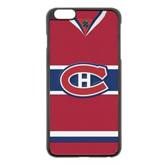 Montreal Canadiens Jersey Style  Apple Iphone 6 Plus Black Enamel Case by blueshirtdesigns