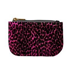 Hot Pink Leopard Print  Coin Change Purse