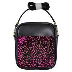 Hot Pink Leopard Print  Girl s Sling Bag by OCDesignss