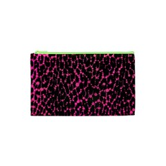 Hot Pink Leopard Print  Cosmetic Bag (xs) by OCDesignss