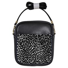 Black&white Leopard Print  Girl s Sling Bag by OCDesignss
