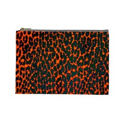 Florescent Leopard Print  Cosmetic Bag (large) by OCDesignss
