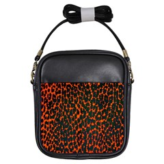 Florescent Leopard Print  Girl s Sling Bag by OCDesignss