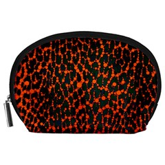 Florescent Leopard Print  Accessory Pouch (large) by OCDesignss