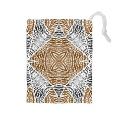 Animal Print Pattern  Drawstring Pouch (large) by OCDesignss