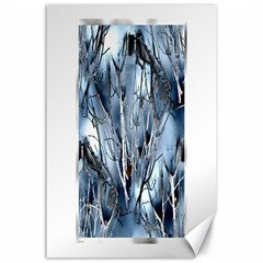 Abstract Of Frozen Bush Canvas 24  X 36  (unframed)