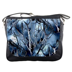 Abstract Of Frozen Bush Messenger Bag by canvasngiftshop