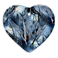 Abstract Of Frozen Bush Heart Ornament by canvasngiftshop