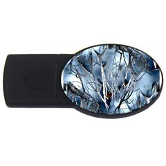 Abstract Of Frozen Bush 2gb Usb Flash Drive (oval) by canvasngiftshop