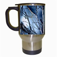 Abstract Of Frozen Bush Travel Mug (white) by canvasngiftshop
