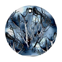 Abstract Of Frozen Bush Round Ornament (two Sides) by canvasngiftshop