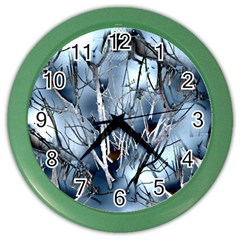 Abstract Of Frozen Bush Wall Clock (color)