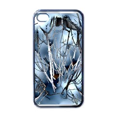 Abstract Of Frozen Bush Apple Iphone 4 Case (black) by canvasngiftshop