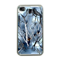 Abstract Of Frozen Bush Apple Iphone 4 Case (clear) by canvasngiftshop